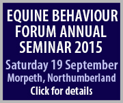 Equine Behaviour Forum 2015 (Lancashire Horse)
